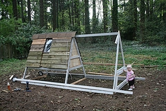 portable chicken coop on wheels
